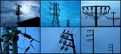 foto of utility pole  - an image of a metal tower of Power Lines - JPG