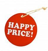 Price tag, sale, happy price
