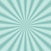 Sunlight Retro Faded Background. Turquoise Color Burst Background. poster