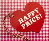 Label with Happy Price title
