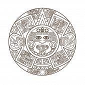 stilisierte aztekischer Kalender