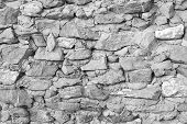 Rock Stone Wall Texture Grunge Background With Vignetted Corners, May Use To Interior Design. Interi poster
