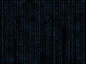 Binary Matrix Blue Background