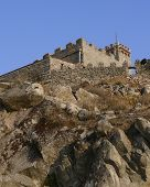The Greek Fortress On Lesvos Island