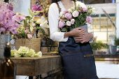 Confident Young Business Owner Flower Shop Store. poster