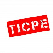 Ruber Stamp With Text Domestic Consumption Tax On Energy Products Symbol Called Ticpe In French poster