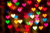 defocused hearts background