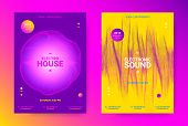 Music Event Promotion. Electronic Sound Poster Concept. Flyer For Techno Music Festival. Dance Event poster