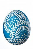 Hand painted easter egg isolated on white