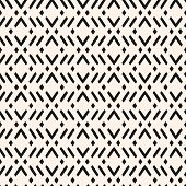 Vector Geometric Seamless Pattern With Zig Zag Lines, Stripes, Rhombuses. Modern Abstract Black And  poster