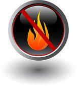 Fire forbidden, sign