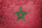 Grunge Morocco Flag. Morocco Flag With Grunge Texture. poster