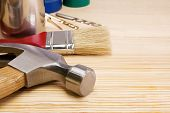 picture of paint brush  - hammer - JPG