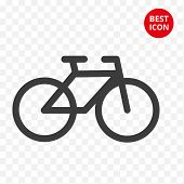 Bicycle Concept. Cycling Icon. Bike Isolated Vector. For Road Sign Shop Logo Repair Symbol Guide Sig poster