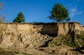 Industrial Sand Pit In The Countryside. Sand Pit Special Sand For Construction. Construction Industr poster
