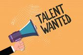 Conceptual Hand Writing Showing Talent Wanted. Business Photo Text Hiring For Specific Skills Need O poster