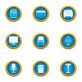 Quality Furniture Icons Set. Flat Set Of 9 Quality Furniture Icons For Web Isolated On White Backgro poster