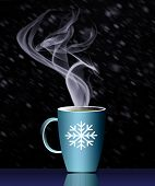 Hot Holiday Drinks Is Illustrated poster