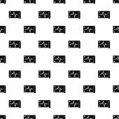 Electrocardiogram Pattern Seamless Vector Repeat Geometric For Any Web Design poster