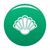 Nice Shell Icon. Simple Illustration Of Nice Shell Vector Icon For Any Design Green poster