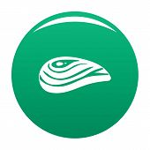 Aquatic Shell Icon. Simple Illustration Of Aquatic Shell Vector Icon For Any Design Green poster