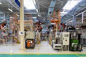 Conveyor For Manufacture Of Cars. Automotive Shop. Car Assembly Plant. Car Manufacturer poster