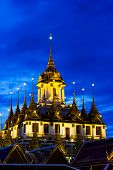 Loha Prasat Metal Palace In Twilight Time