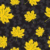 Beautiful seamless autumn background