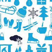 Doodle Winter Seamless Pattern