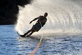 Water Ski Rooster Tail On River