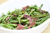 Fried Green Beans With Ham
