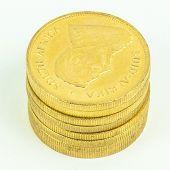 Постер, плакат: Золотые монеты