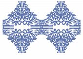 Blue Floral Decorative Vintage