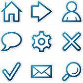 Web Icons, Blue Contour Series