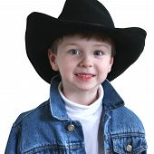 Adorable Four Year Old Cowboy Hat poster