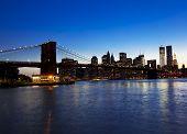 Brooklyn Bridge And Skyline At Night