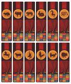 Chinese Zodiac Bookmarks Set