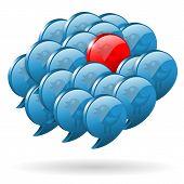 Opinión especial - concepto de redes sociales