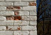 sunlit broken wall
