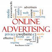 Online Advertising Word Cloud Concept