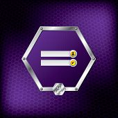 Metallic Hexagon Login Screen Design With Purple Background
