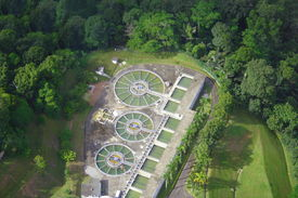 image of polution  - Water Treatment Building In The Nature Forest - JPG