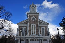 foto of tabernacle  - exterior of the Logan Tabernacle in Utah - JPG