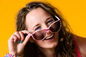 Girl And Sunglasses