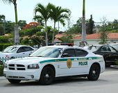 Miami - Dade police department car in South Miami