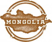 Mongolia Asia Rubber Stamp
