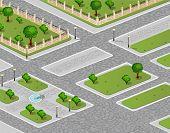 Vector of urban garden