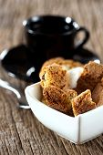 Cantuccini Biscuits In Bowl
