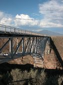 foto of arch foot  - The Rio Grande Gorge Bridge is a well known landmark near Taos - JPG