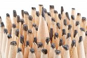 stock photo of blunt  - Sharp pencil among the blunt - JPG
